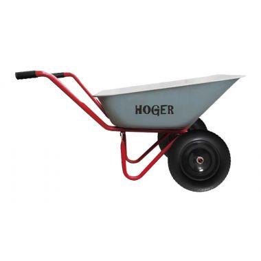 Тачка садовая двухколесная D 360 мм грузопод 110 кг Hoger