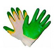 Перчатки хозяйственные ХБ латексное покрытие