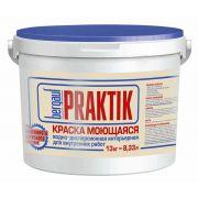 Краска моющаяся Bergauf Praktik интерьерная водно-дисперсионная 13 кг