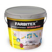 Интерьерная акриловая краска белая Farbitex 3 кг