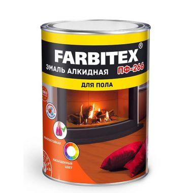 Эмаль ПФ 266 желто-коричневая Farbitex 0.9 кг