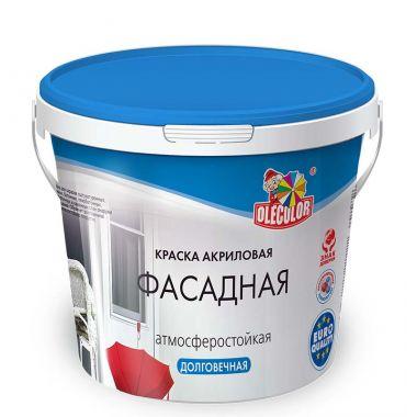 Краска водно-дисперсионная фасадная белая Olecolor 1 кг