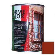Грунтовка ГФ 021 красно коричневая 0.9 кг