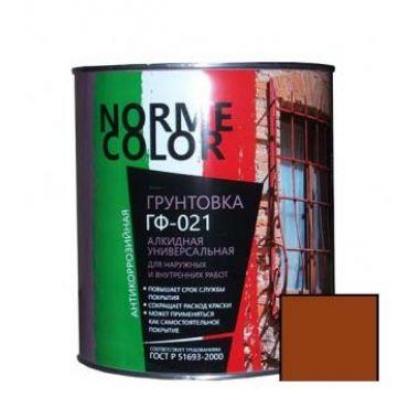 Грунтовка ГФ 021 красно коричневая Norme Color 20 кг
