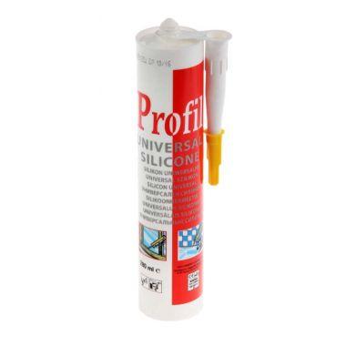 Герметик силиконовый белый 280 мл универсальный Soudal Profil