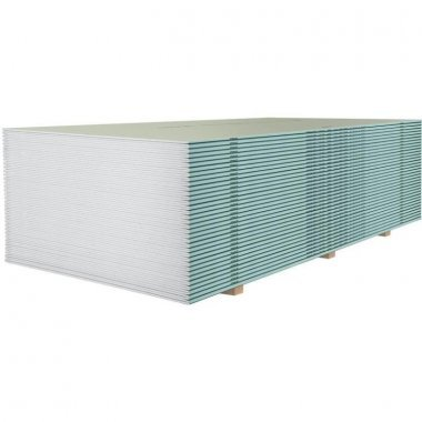 Гипсокартон влагостойкий Кнауф 3000х1200х12.5 мм / Кнауф-лист