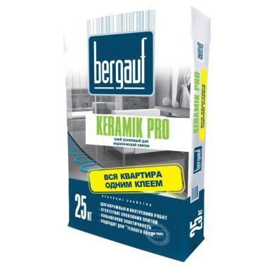 Плиточный клей Bergauf Keramik Pro усиленный 25 кг