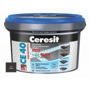 Затирка Ceresit СЕ 40 Aquastatic графит 2 кг