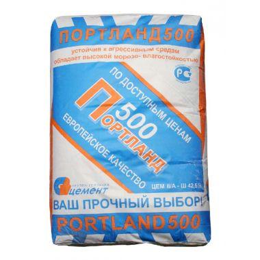 Цемент М500 Д20 (ЦЕМ III А-Ш 42,5 Портланд) 50 кг